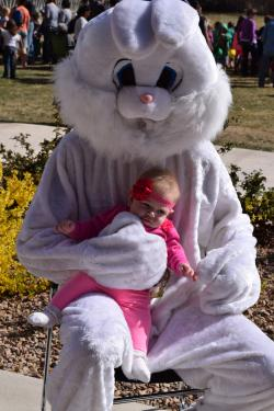 Pic of Easter Bunny and Baby