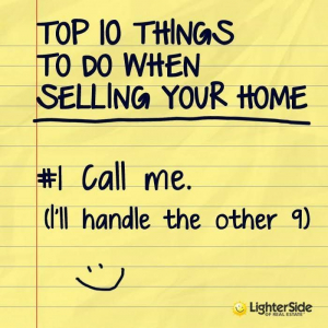 Pic of top things to do when selling your home